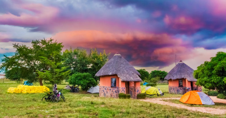 This picture shows a village in Zambia, where blockchain deed recording is commonplace.