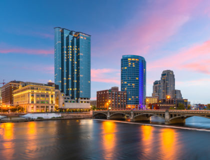 A huge millennial migration is underway across the country, to cities like Grand Rapids, which is pictured here